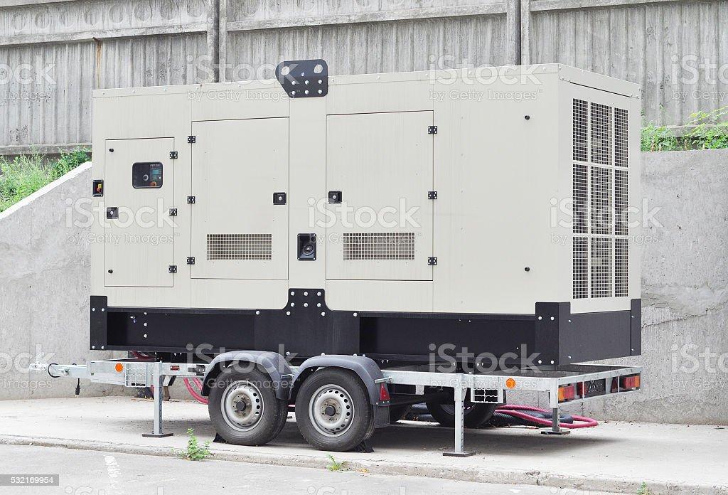Mobile Diesel Generator stock photo