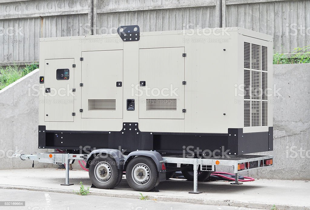 Mobile Diesel Generator stock photo