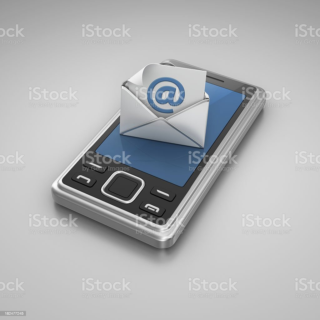 mobile email message royalty-free stock photo
