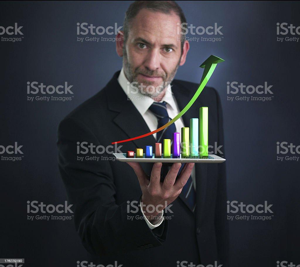 Mobile finance and statistics analytics royalty-free stock photo