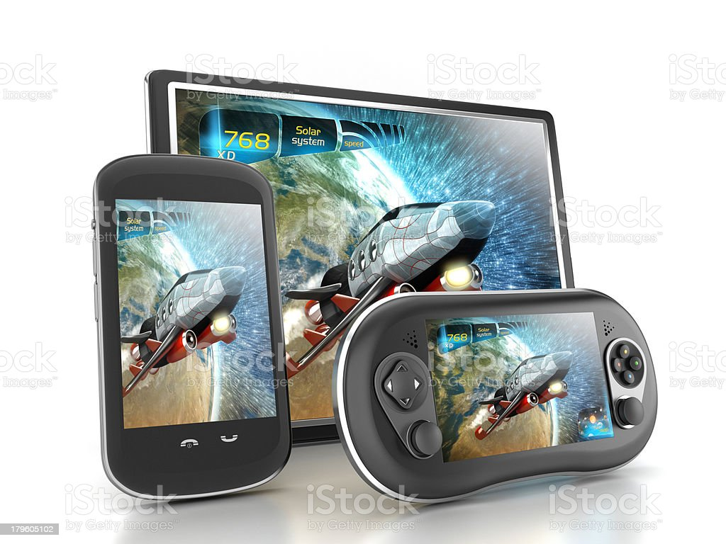Mobile gaming stock photo