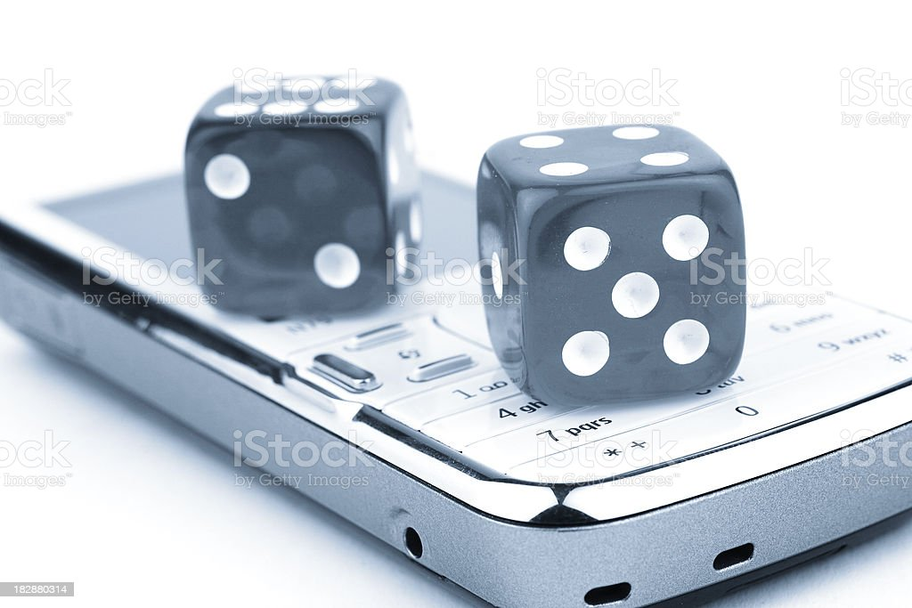 Mobile gaming royalty-free stock photo