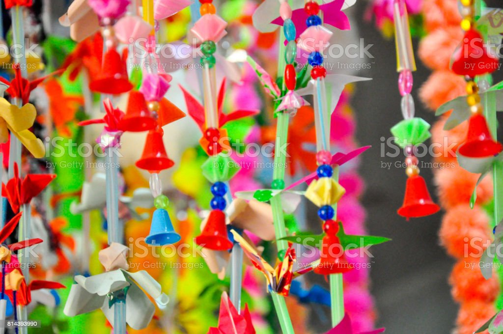 Mobile Hanging garland stock photo