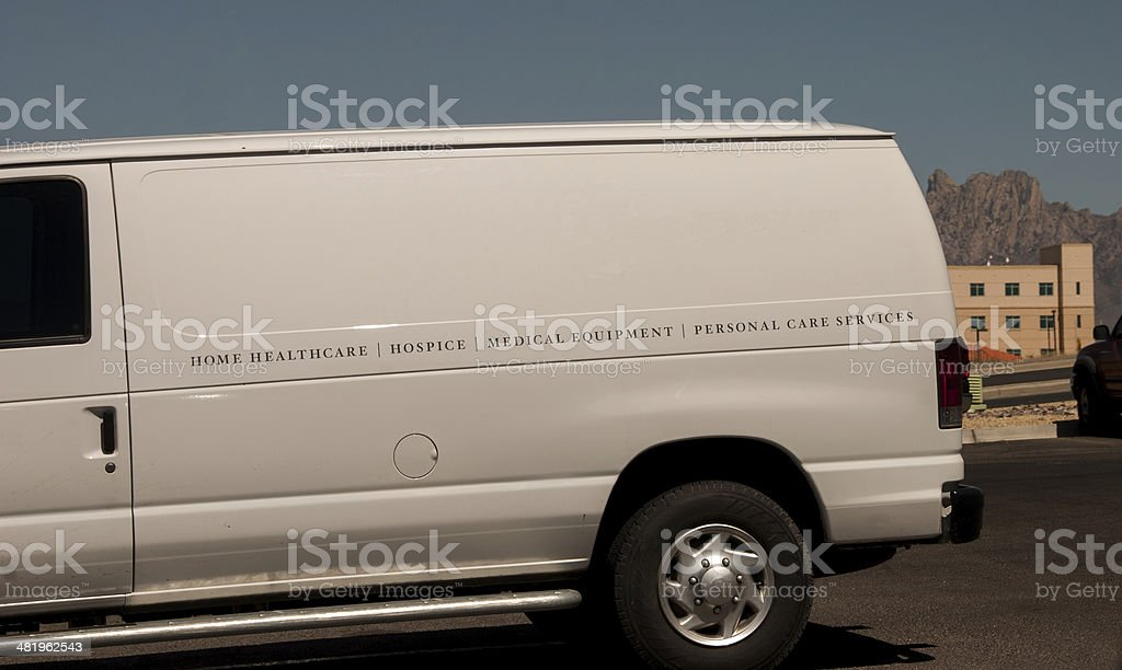 Mobile Health and Hospice Services Van royalty-free stock photo