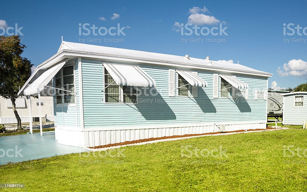 Mobile Home - Affordable Housing stock photo