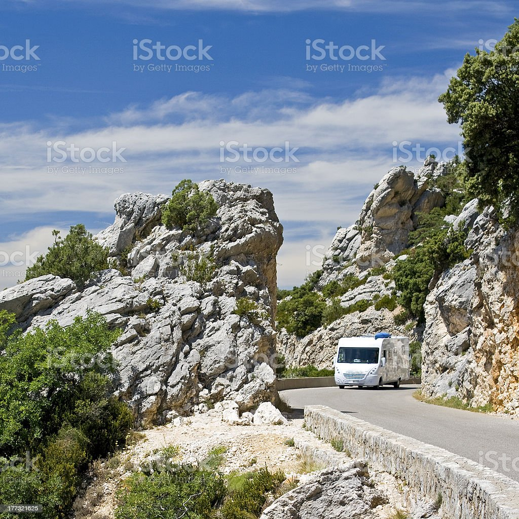 Mobile Home, auto camper on the road. royalty-free stock photo
