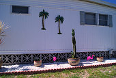 Mobile home back yard