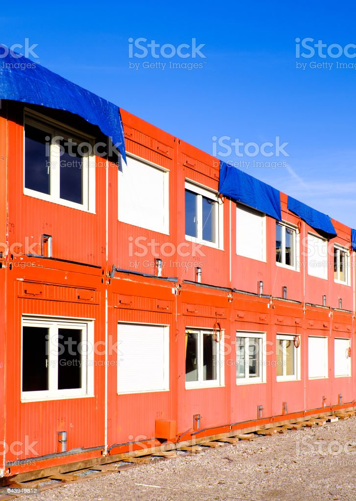 mobile home container stock photo