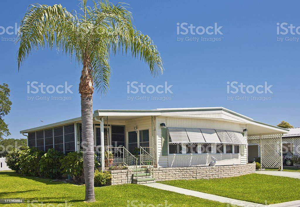 Mobile Home in the Tropics stock photo