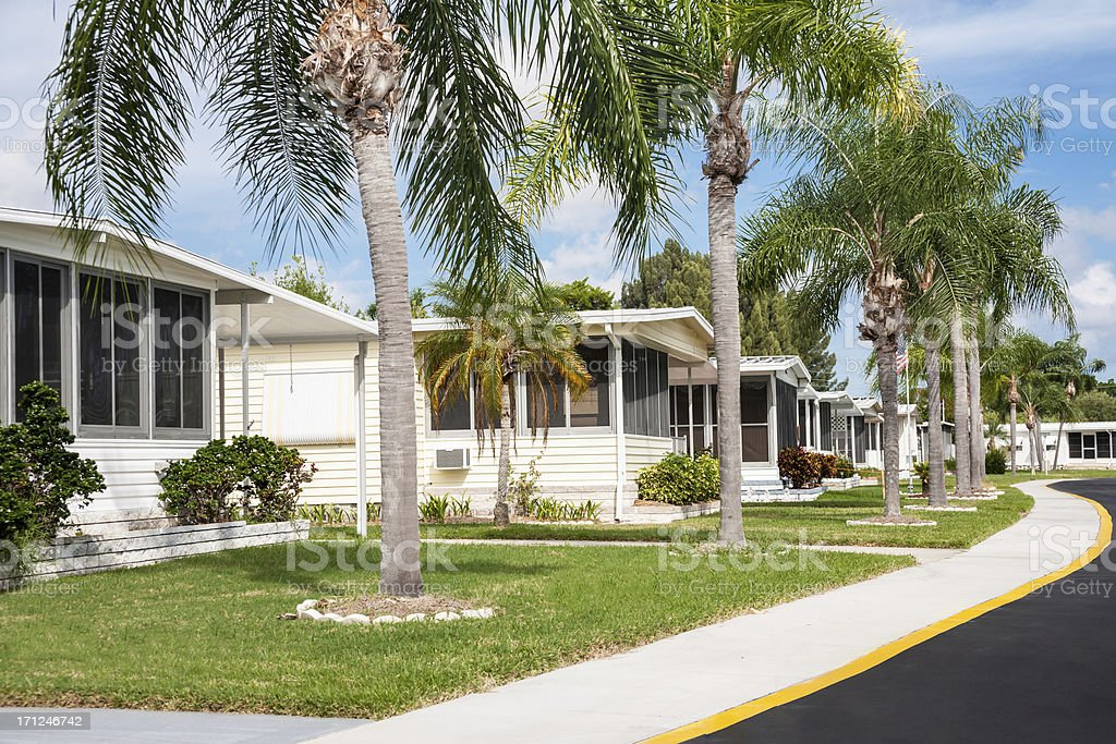 Mobile Home Park in the Tropics stock photo