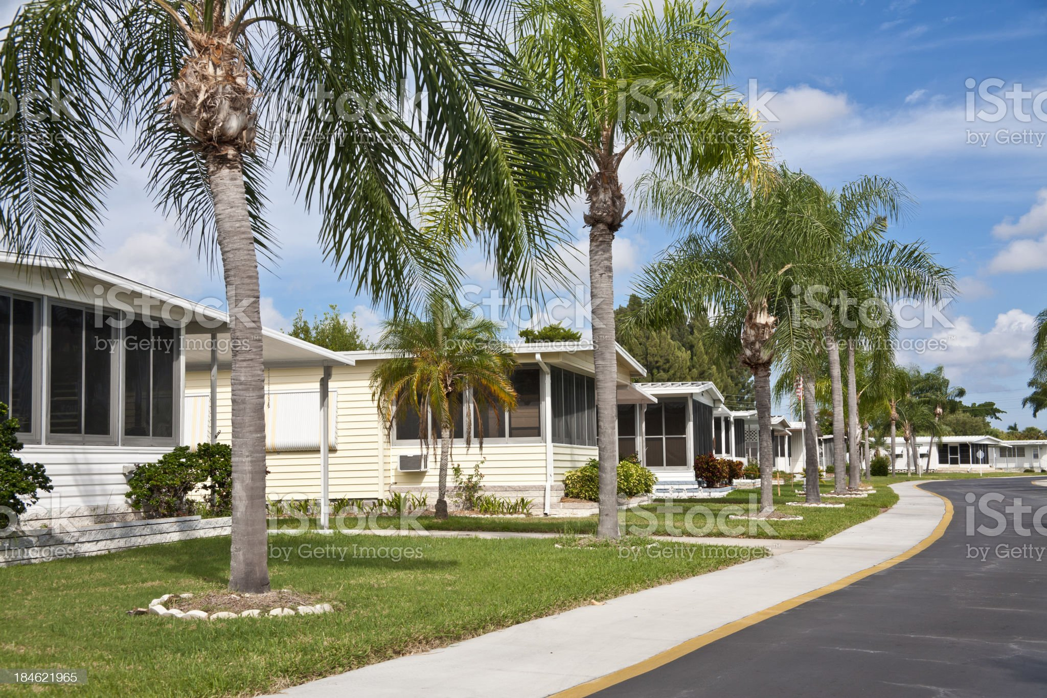 Mobile Home Park royalty-free stock photo