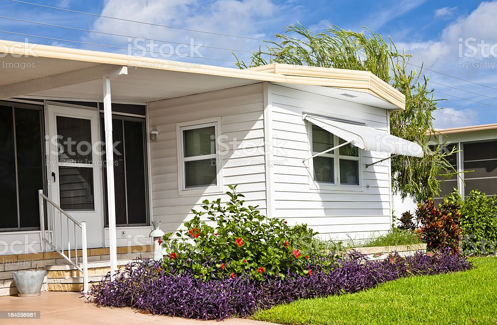 Mobile Home stock photo