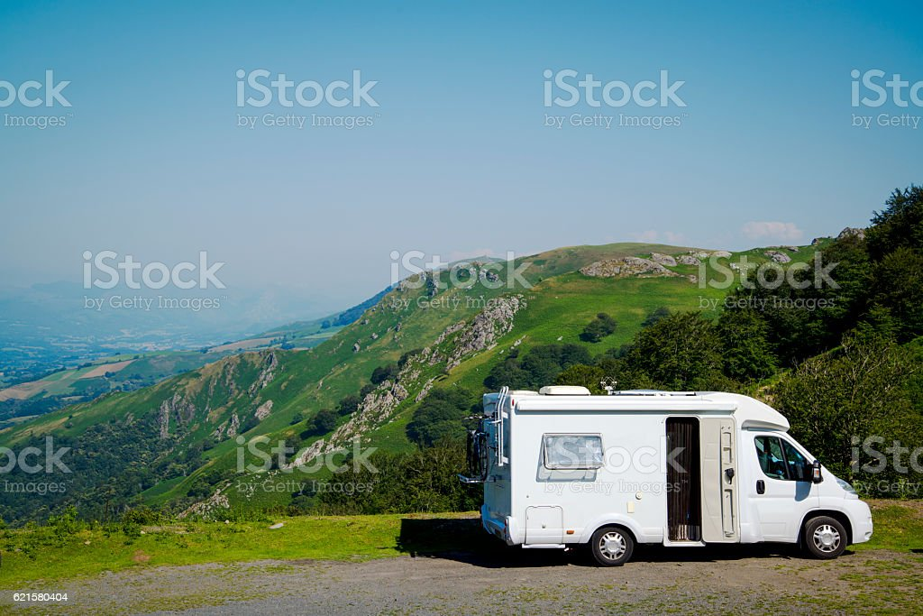 Mobile home, Spain stock photo