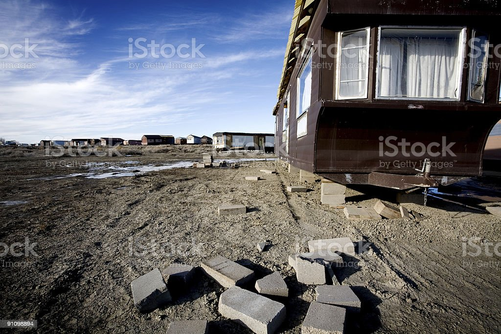 mobile homes abandoned royalty-free stock photo