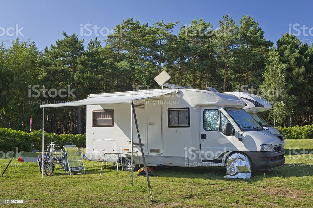 Mobile Homes on the meadow royalty-free stock photo