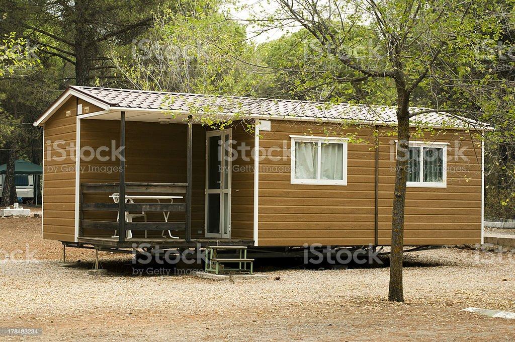 Mobile homes stock photo
