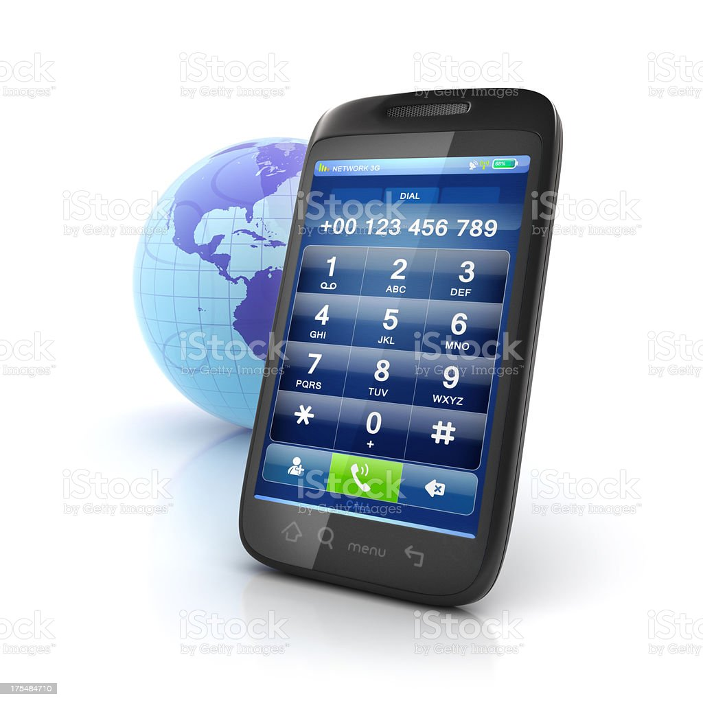 mobile international calls dialpad stock photo
