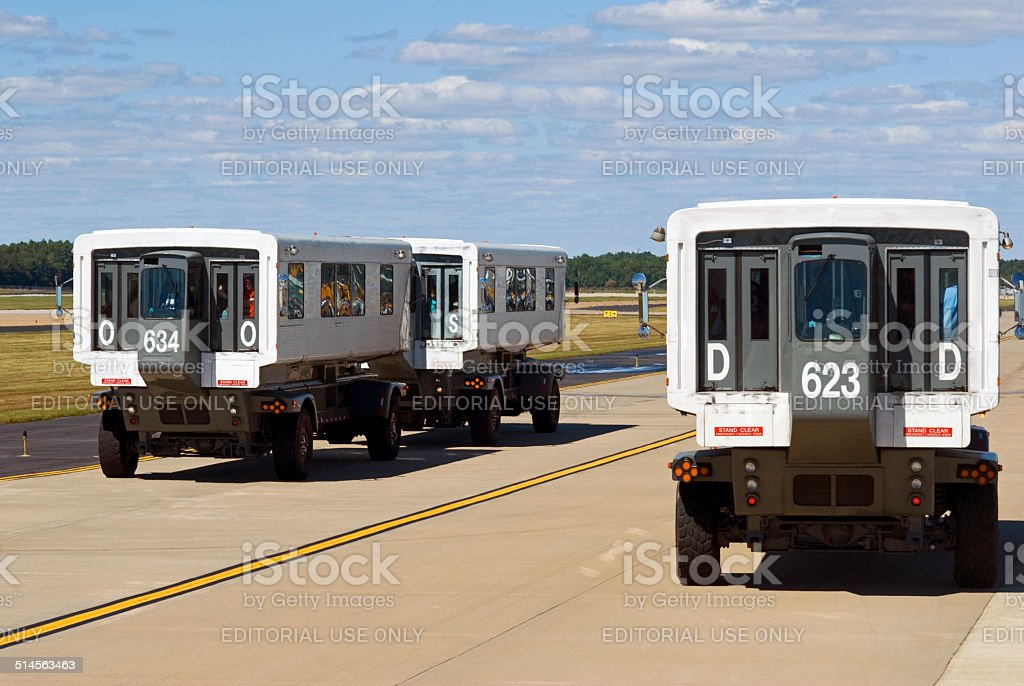 Mobile Lounge at Dulles International Airport (IAD) stock photo