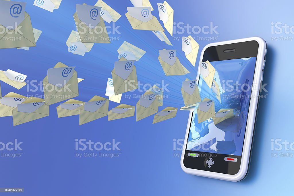 Mobile mail stock photo