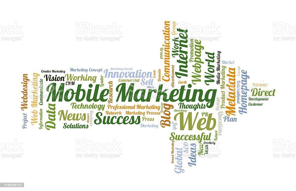 Mobile Marketing word cloud stock photo