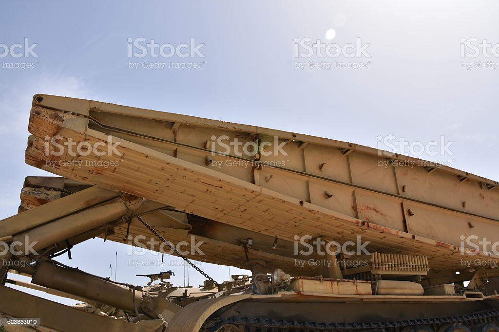 Mobile Military Bridge stock photo
