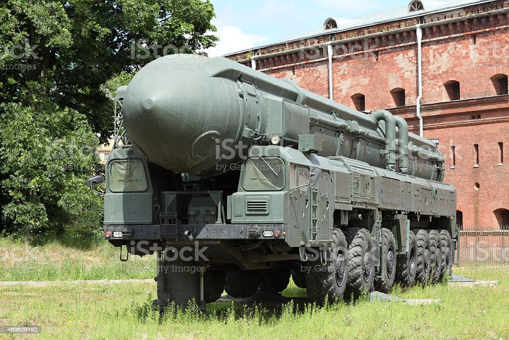 mobile missile launcher stock photo
