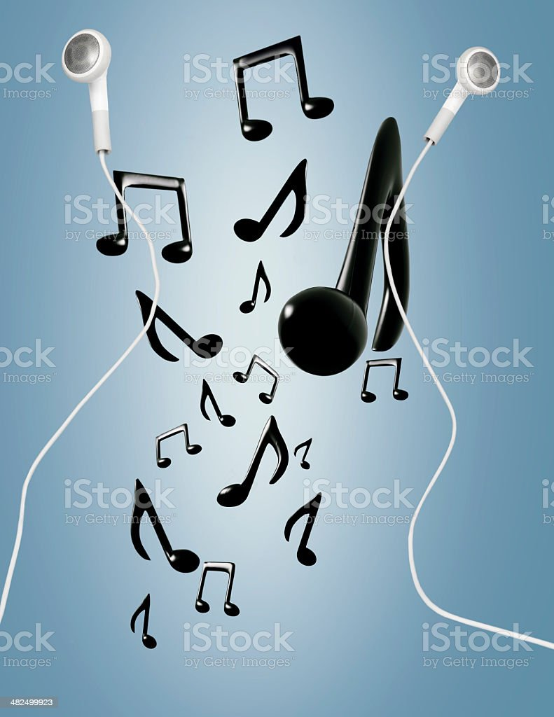 mobile music stock photo