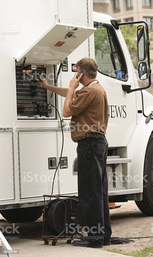 Mobile News Truck royalty-free stock photo