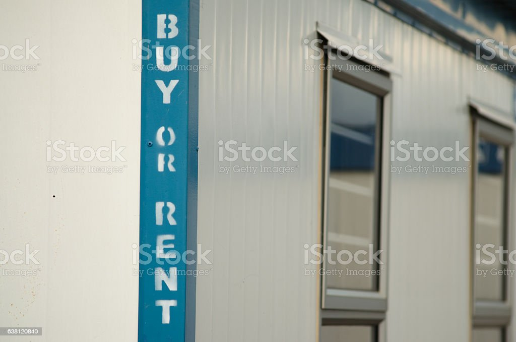 Mobile office container stock photo