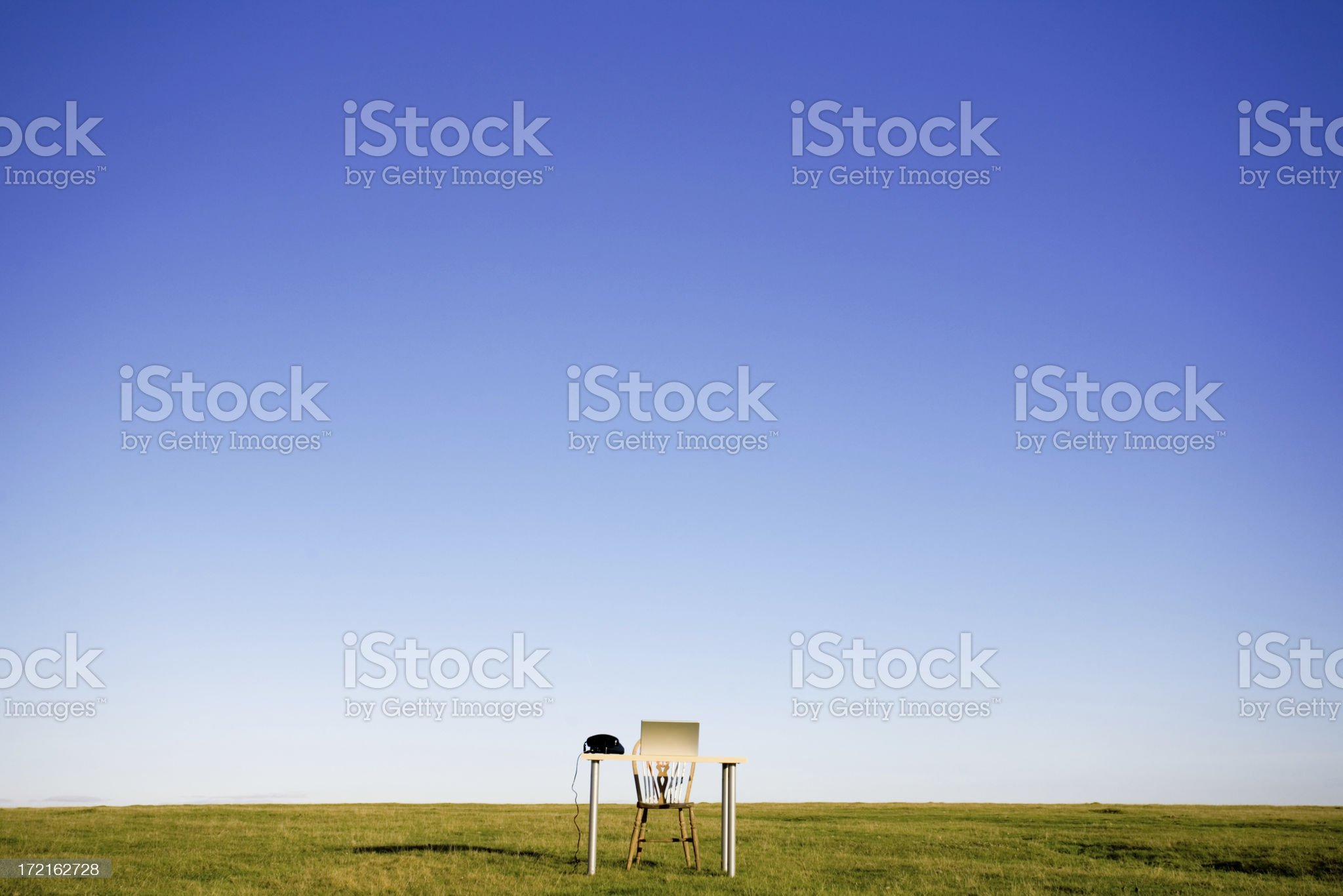 Mobile office royalty-free stock photo