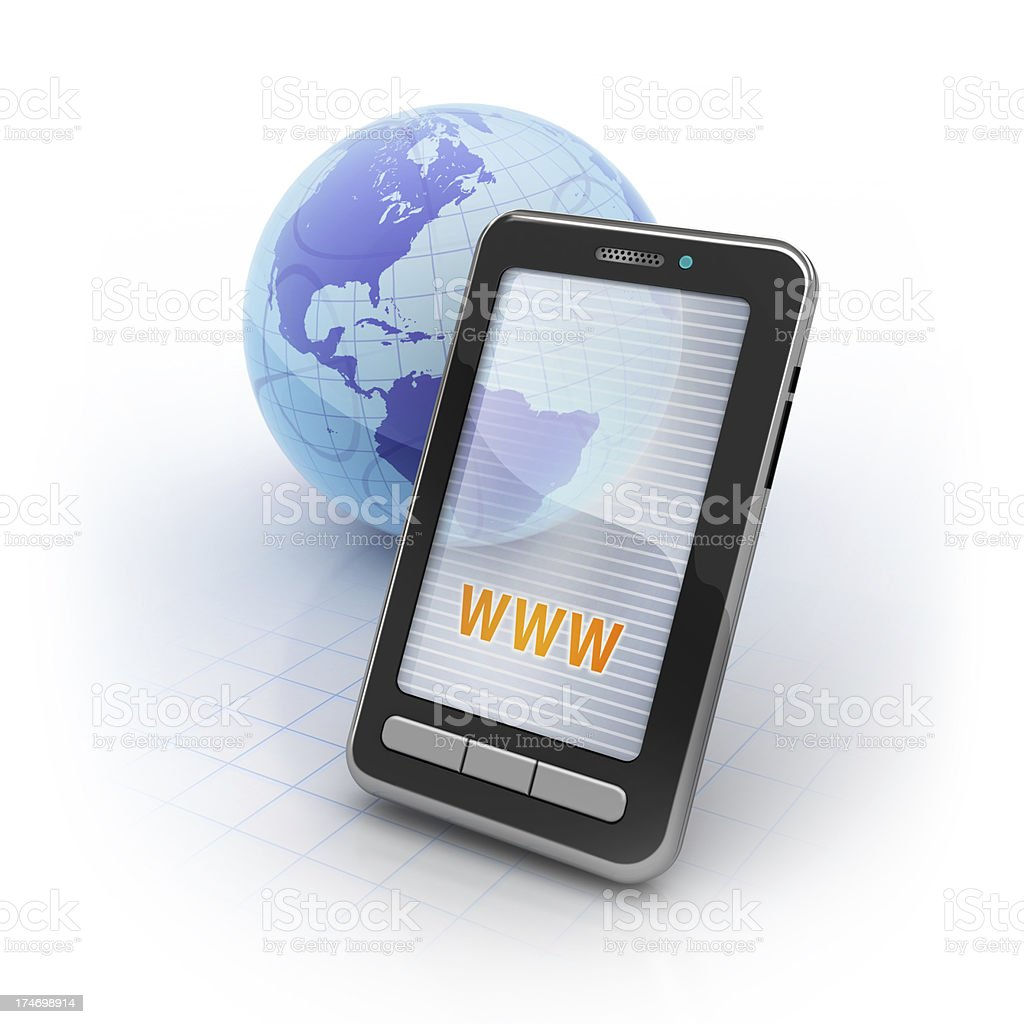 Mobile Online royalty-free stock photo