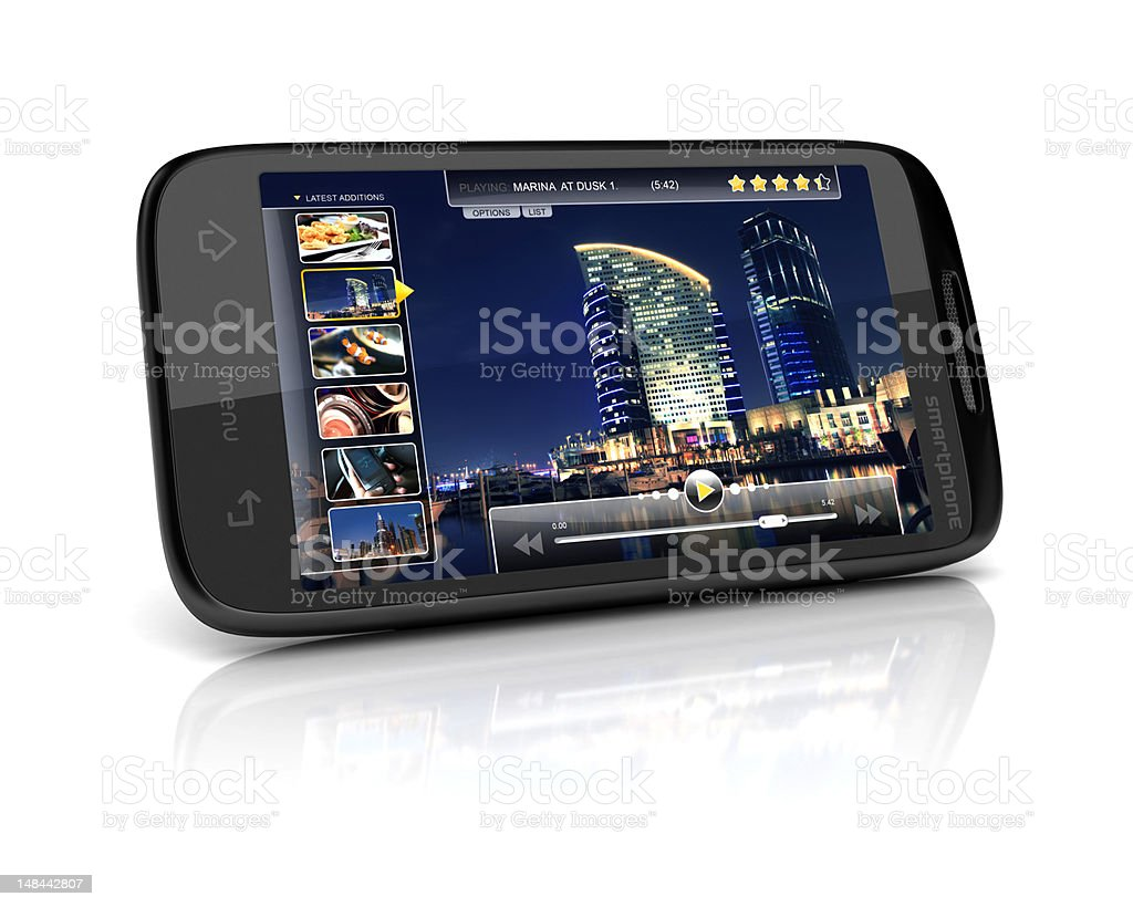 mobile or online video stock photo