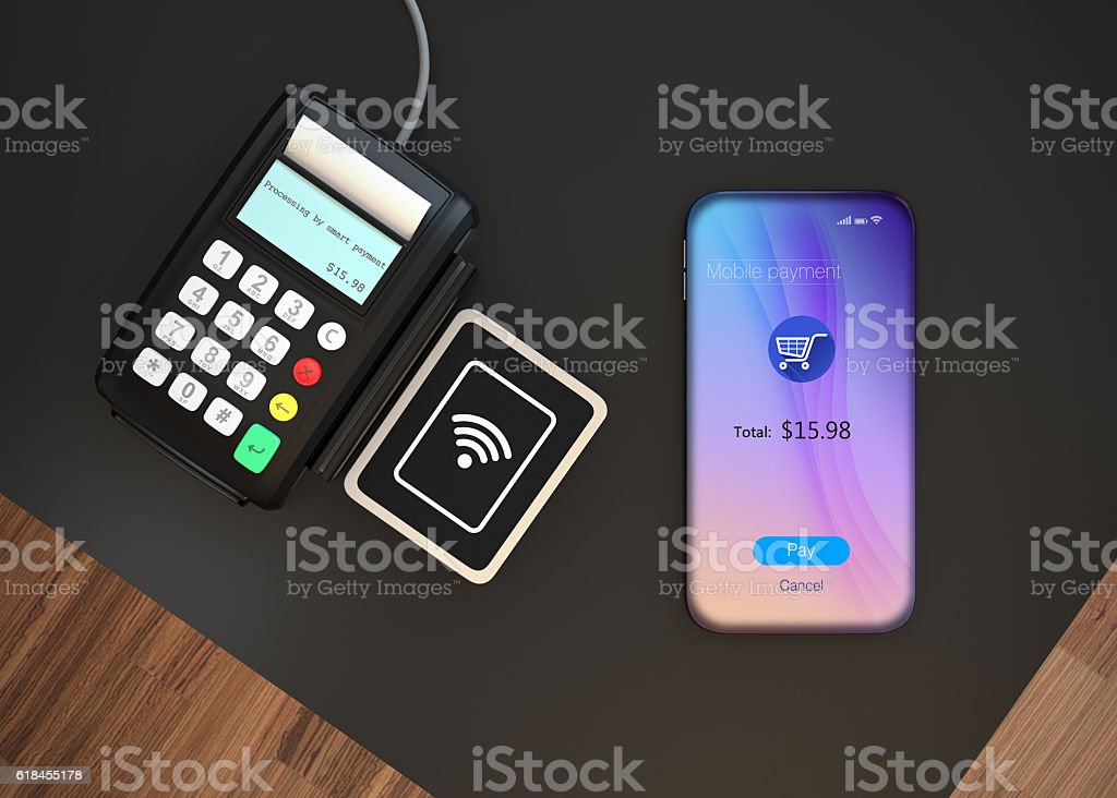 Mobile payment concept stock photo