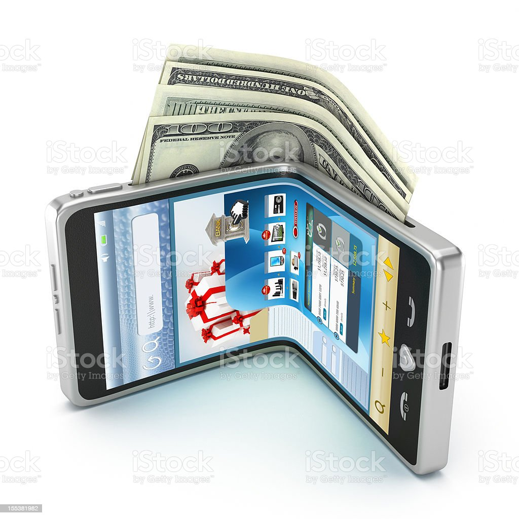 Mobile payment (Newer interface design) stock photo