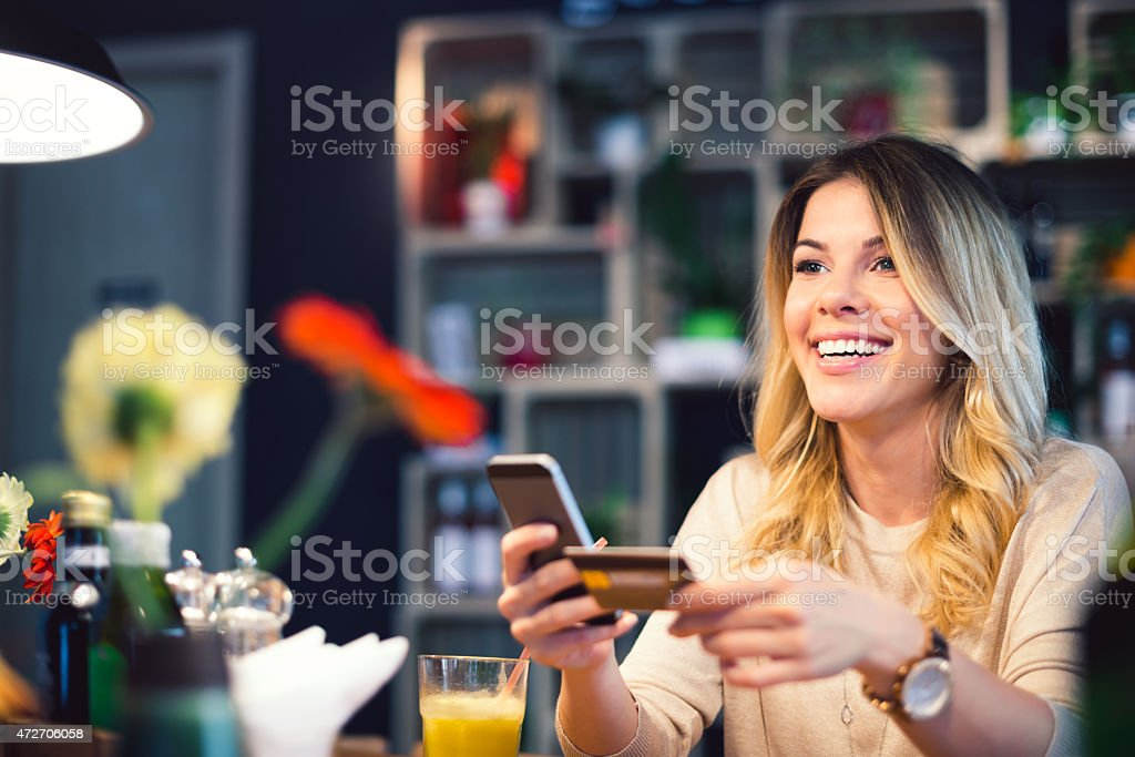 Mobile payment stock photo