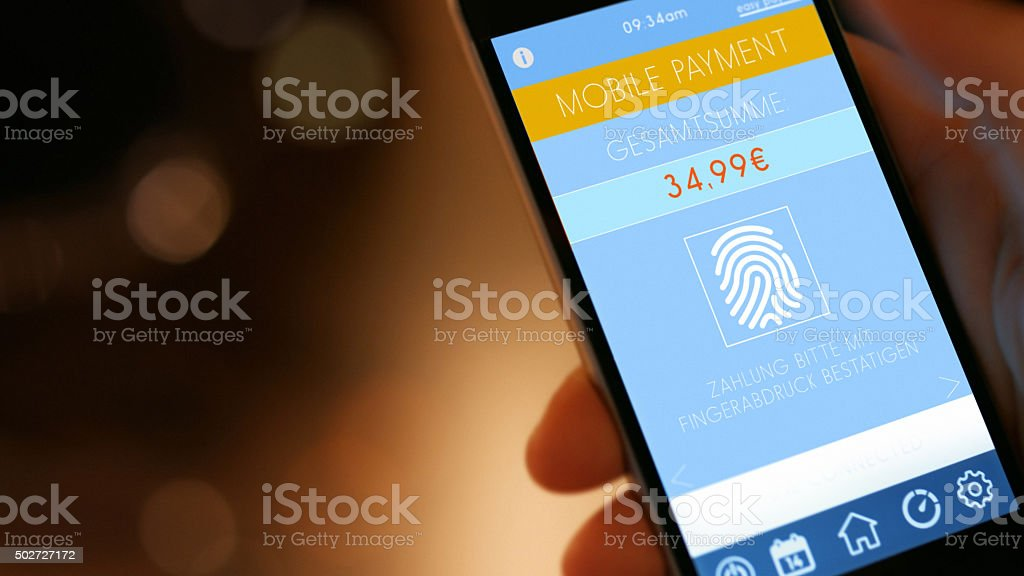 Mobile Payment with Smart Phone stock photo