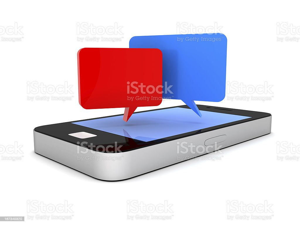 Mobile phone and social media royalty-free stock photo