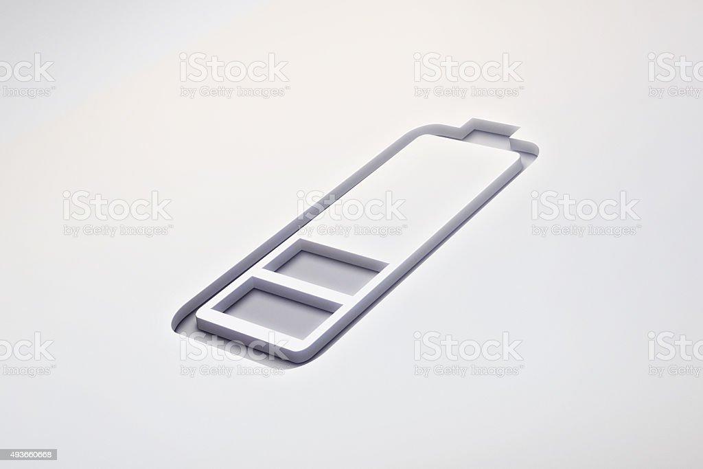 Mobile Phone Battery Symbol stock photo