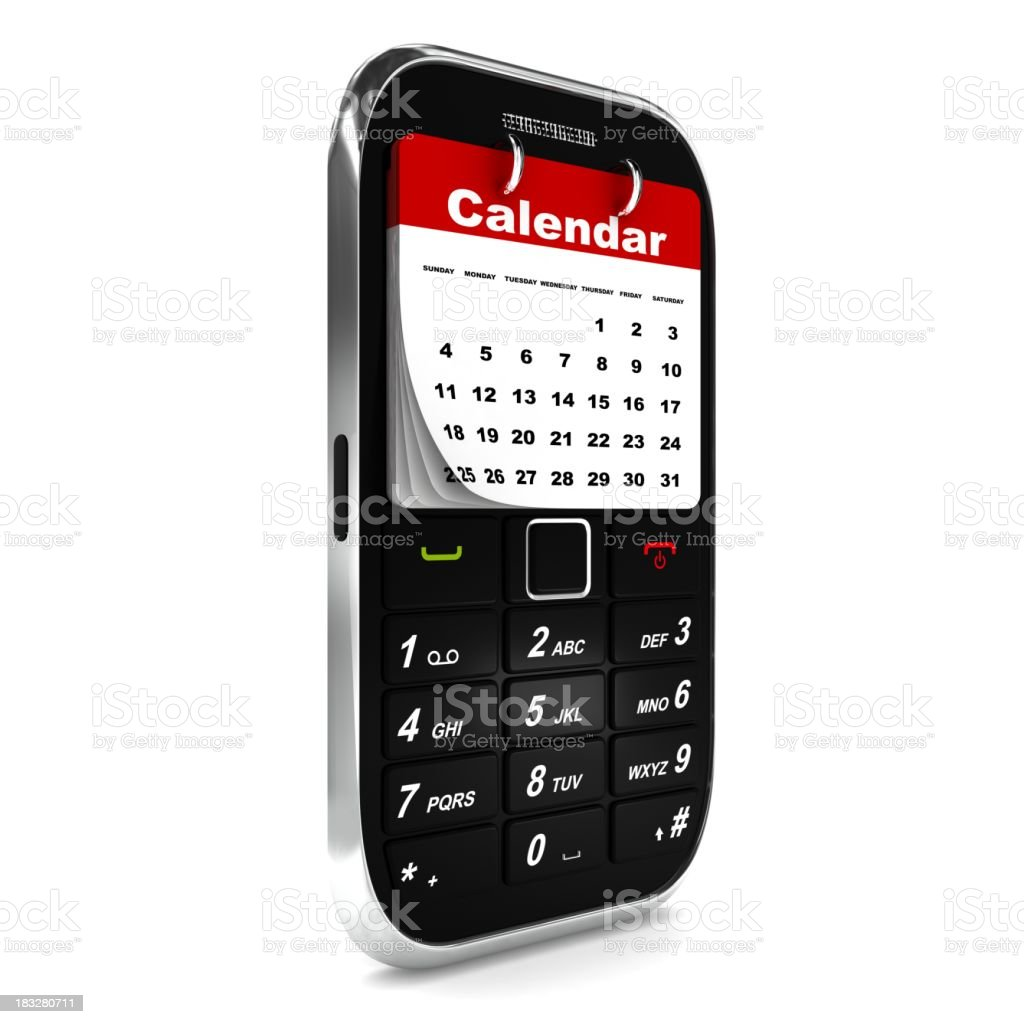 Mobile Phone Calendar royalty-free stock photo