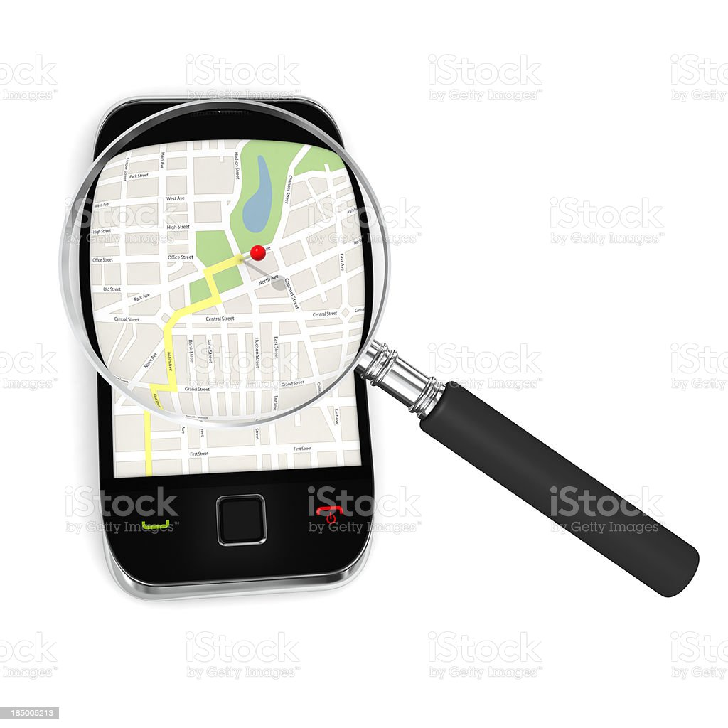 Mobile Phone GPS royalty-free stock photo