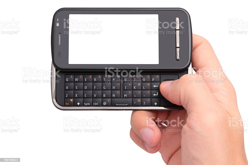 Mobile phone in the hand royalty-free stock photo