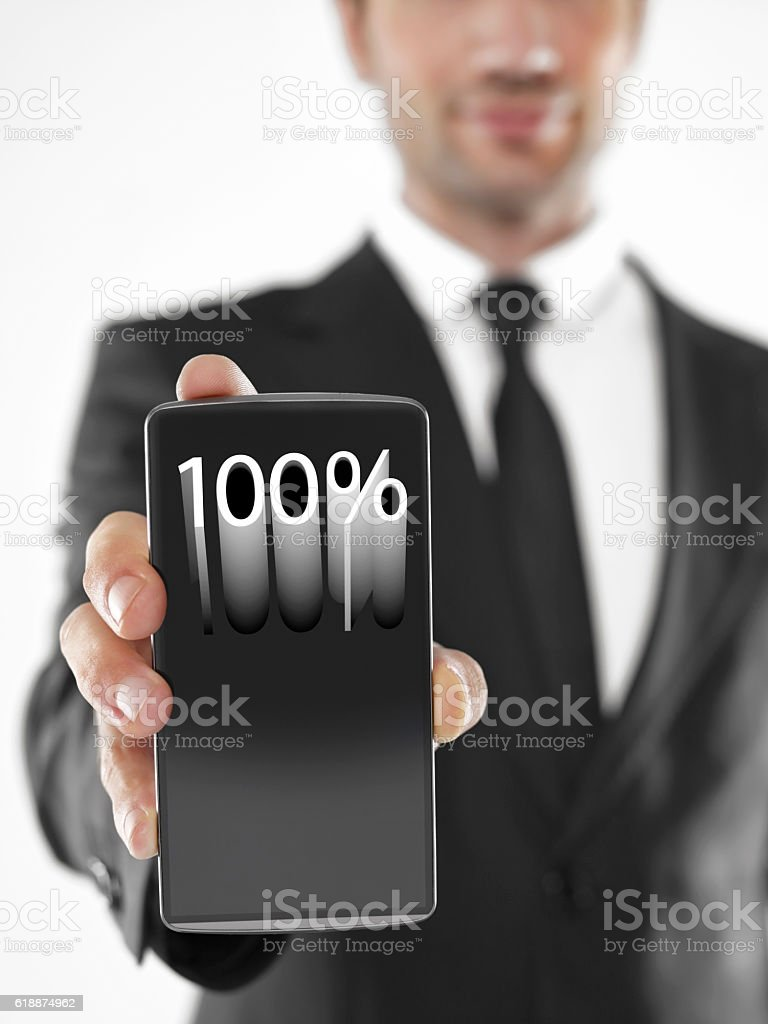 mobile phone in your hands stock photo