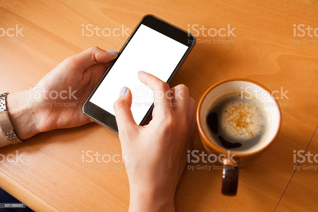 Mobile phone mockup. stock photo