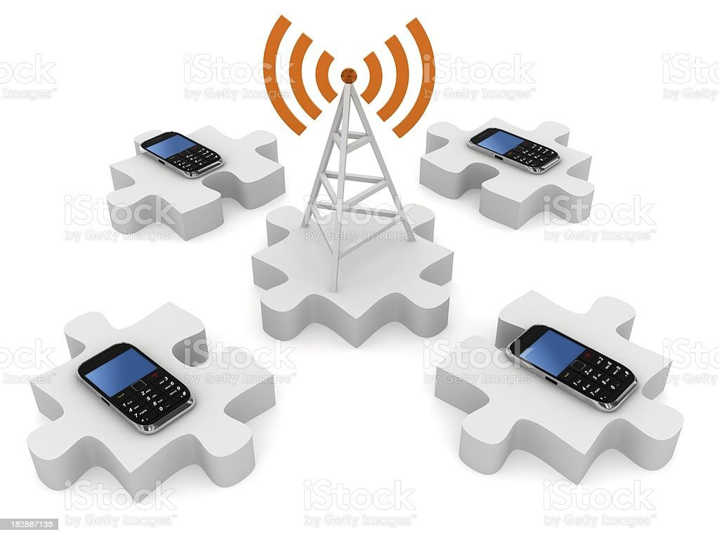 Mobile Phone Network royalty-free stock photo