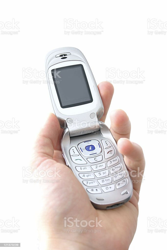 Mobile phone on white royalty-free stock photo