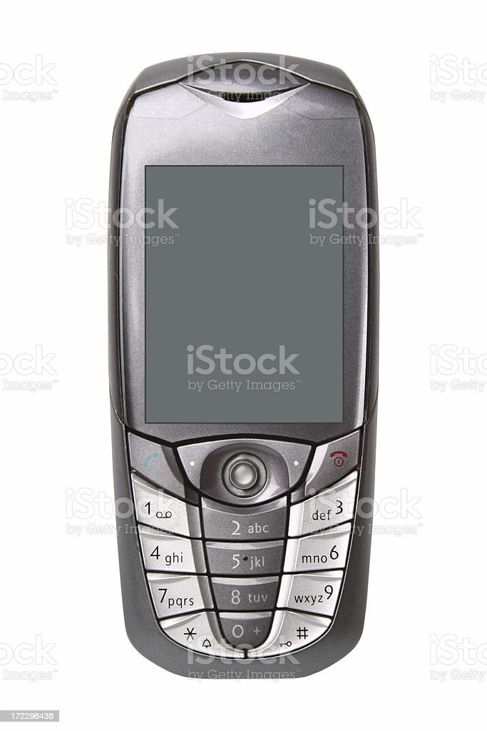 Mobile phone (isolated) royalty-free stock photo