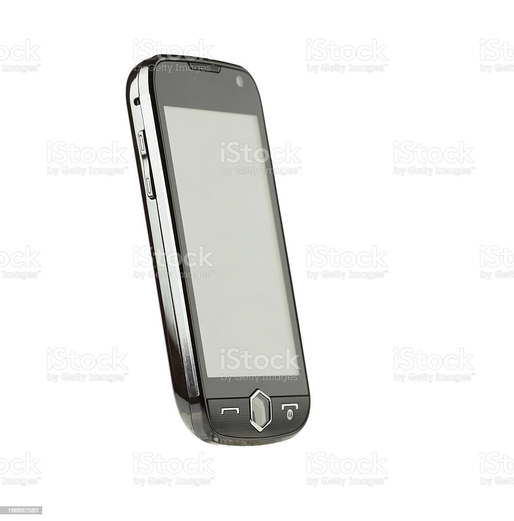 Mobile phone (clipping paths) royalty-free stock photo