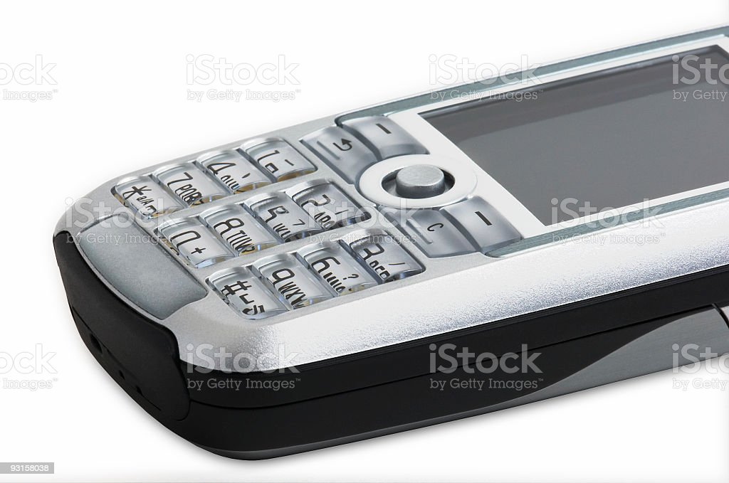 Mobile phone (isolated, clipping path) royalty-free stock photo