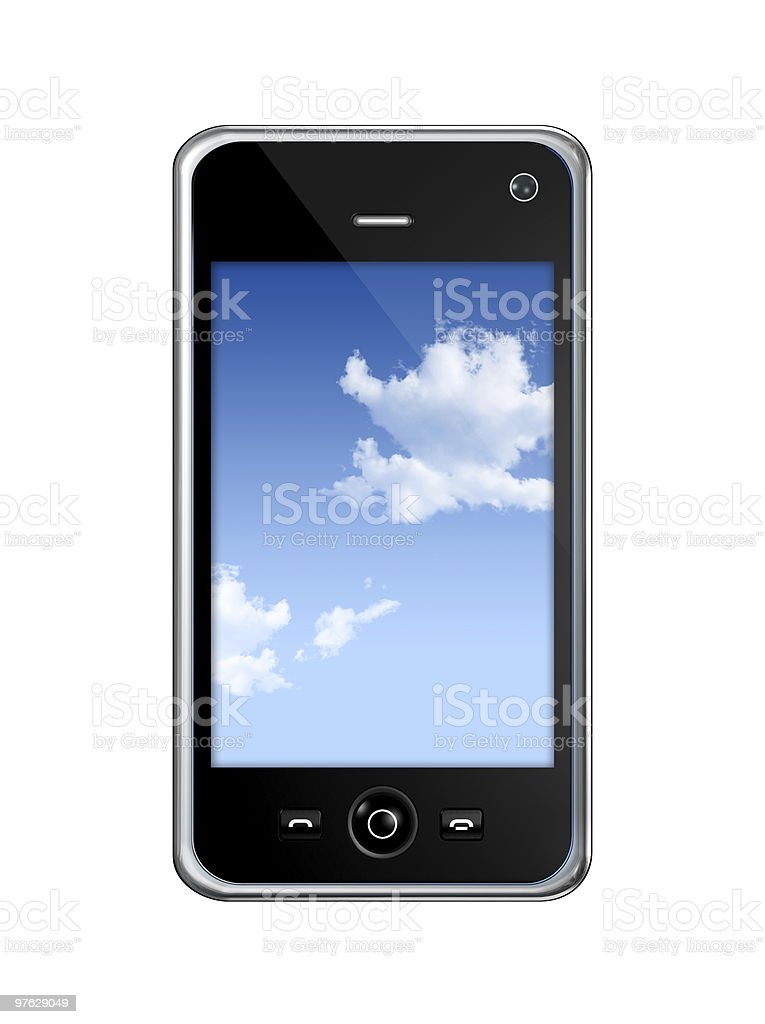 mobile phone royalty-free stock vector art