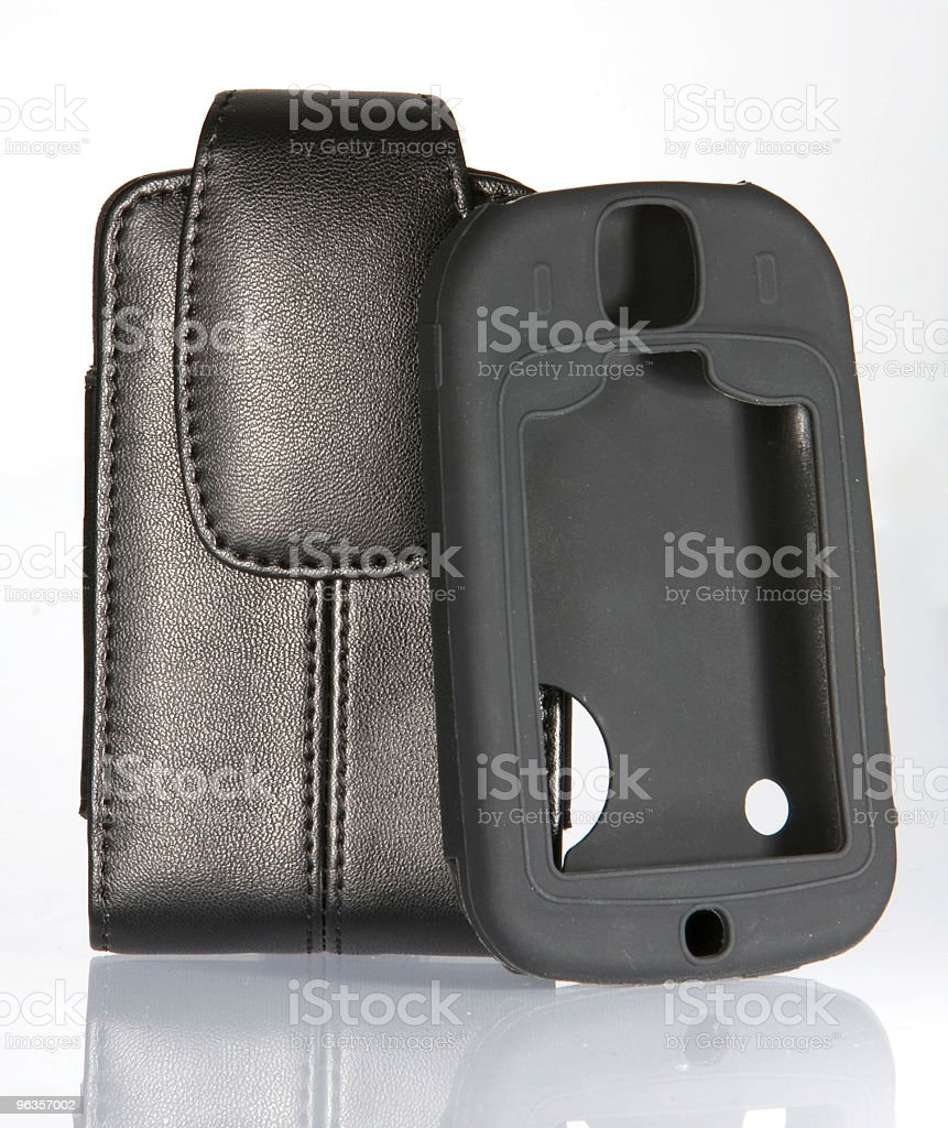 Mobile ( Cell) Phone pouch and rubber sleve royalty-free stock photo
